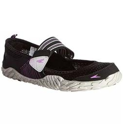 Speedo 3769 Womens Black Mary Jane Mesh Water Shoes Sneakers