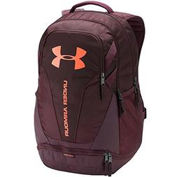 Under Armour Hustle 3.0 Backpack, Dark Maroon /Magma Orange,