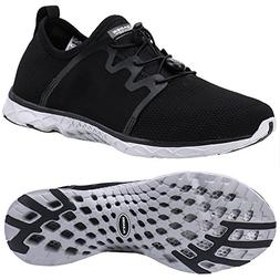 ALEADER Women's Xdrain Outdoor Aqua Water Shoes Black/Gray 9
