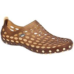 Aleader Men's Pull-On Water Shoes Brown 10 D M US Mens Athle