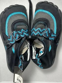 Athletic shoes womens Size 5-6 Water Shoes Black With Blue