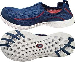 NORTY - Womens Breathable Mesh Slip-On Water Shoe, Navy 3969