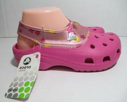 CROCS Crocling Glam Girls/Womens Size 5 Water Shoes Pink Sum