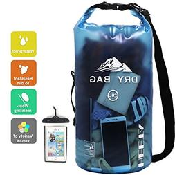 HEETA Dry Bag Waterproof Roll Top Transparent Floating Sack