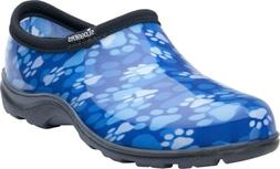 Sloggers Ladies Garden Shoes - Paw Print Blue
