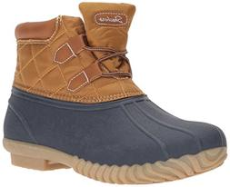 Skechers Women's Hampshire Winter Boot,Navy Tan,7 M US