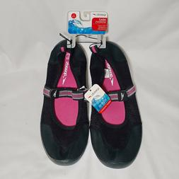Speedo Hydro Tread Black with Pink Mary Jane Water Shoes Wom