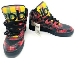 Adidas Jeremy Scott Instinct High Top Plaid Shoes Sneakers W