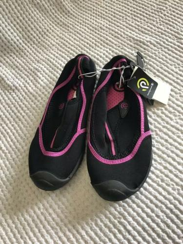 c9 womens water shoes black pink size