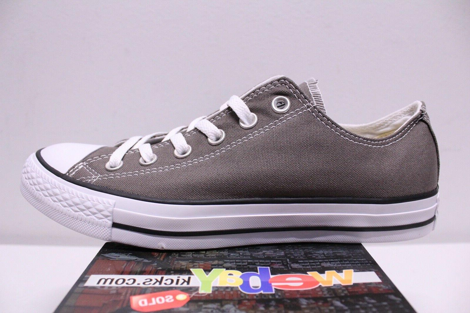 Converse Star Low Charcoal Gray 8-13 New