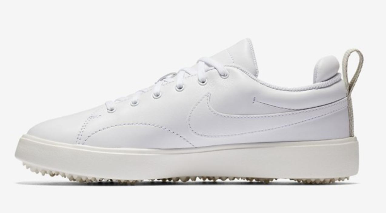 course classic leather golf shoes white waterproof