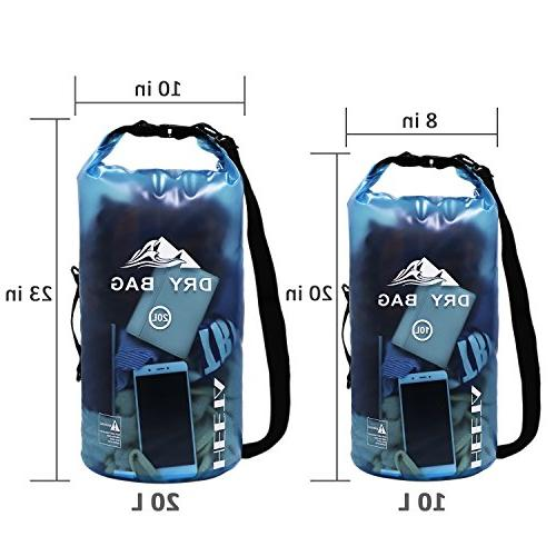 HEETA Dry Roll Transparent Sack Keeps Dry for Kayak, Boating and Activities 20L