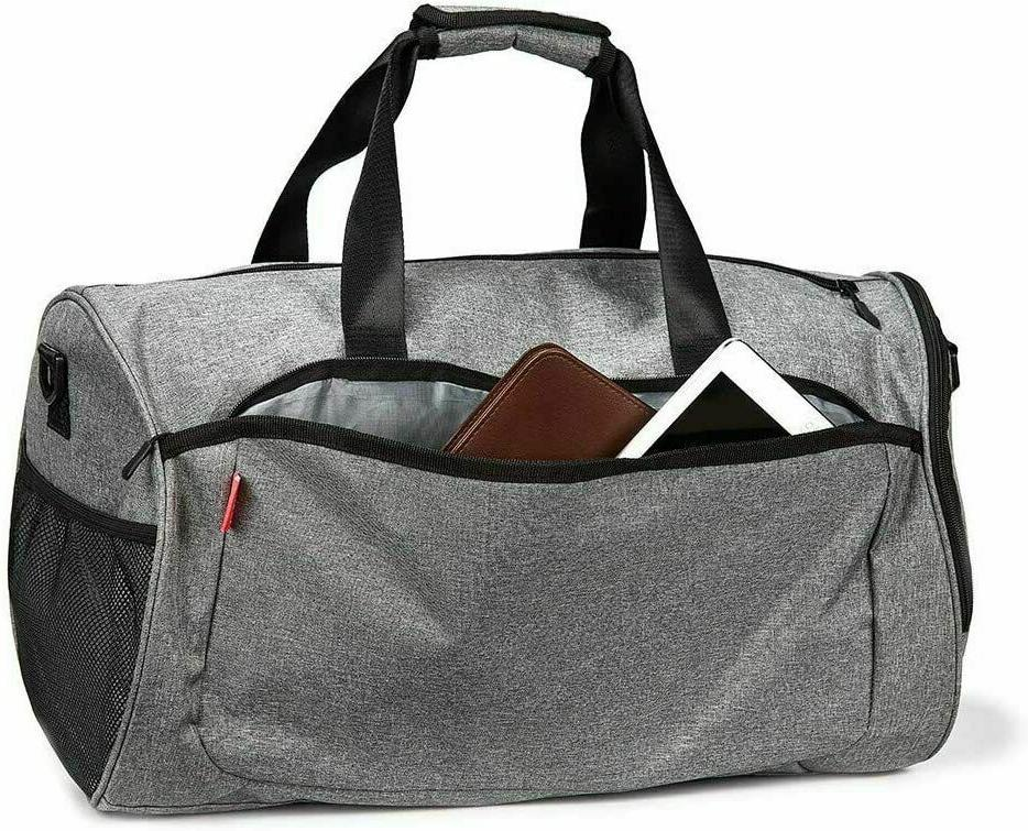 2x Gym Men Duffel with Compartment Pocket T