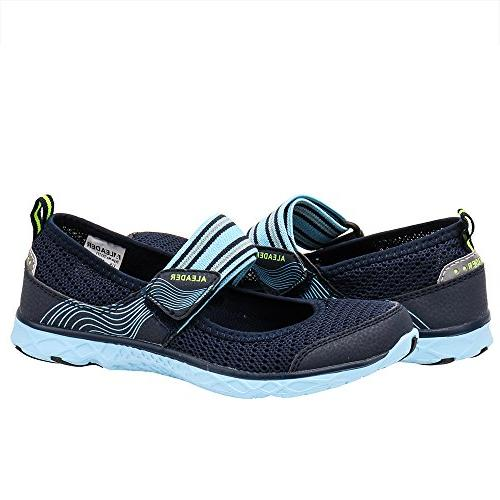 ALEADER Womens Shoes Mary Comfort Sneaker Navy/Blue 8 US