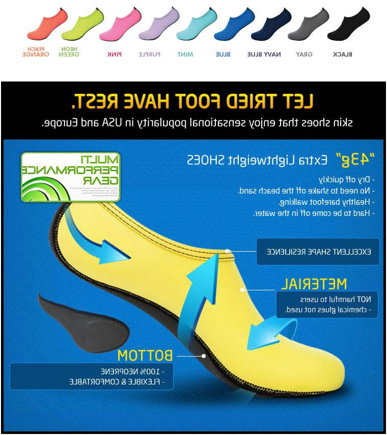 Men Women Shoes Beach Yoga Slip Surf