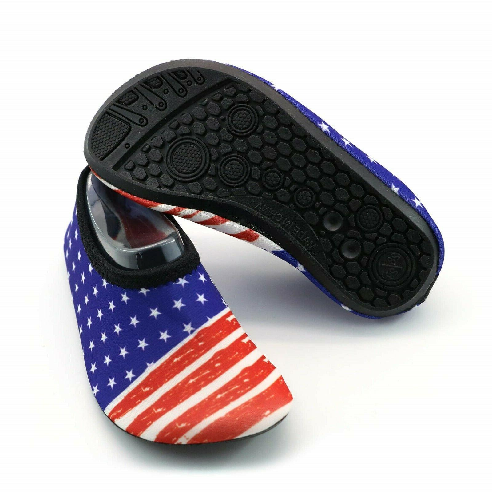 Men Women Shoes , Beach US Flag for