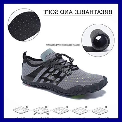 FEIFAN Men Women Water Shoes Quick Beach Swim Fiv