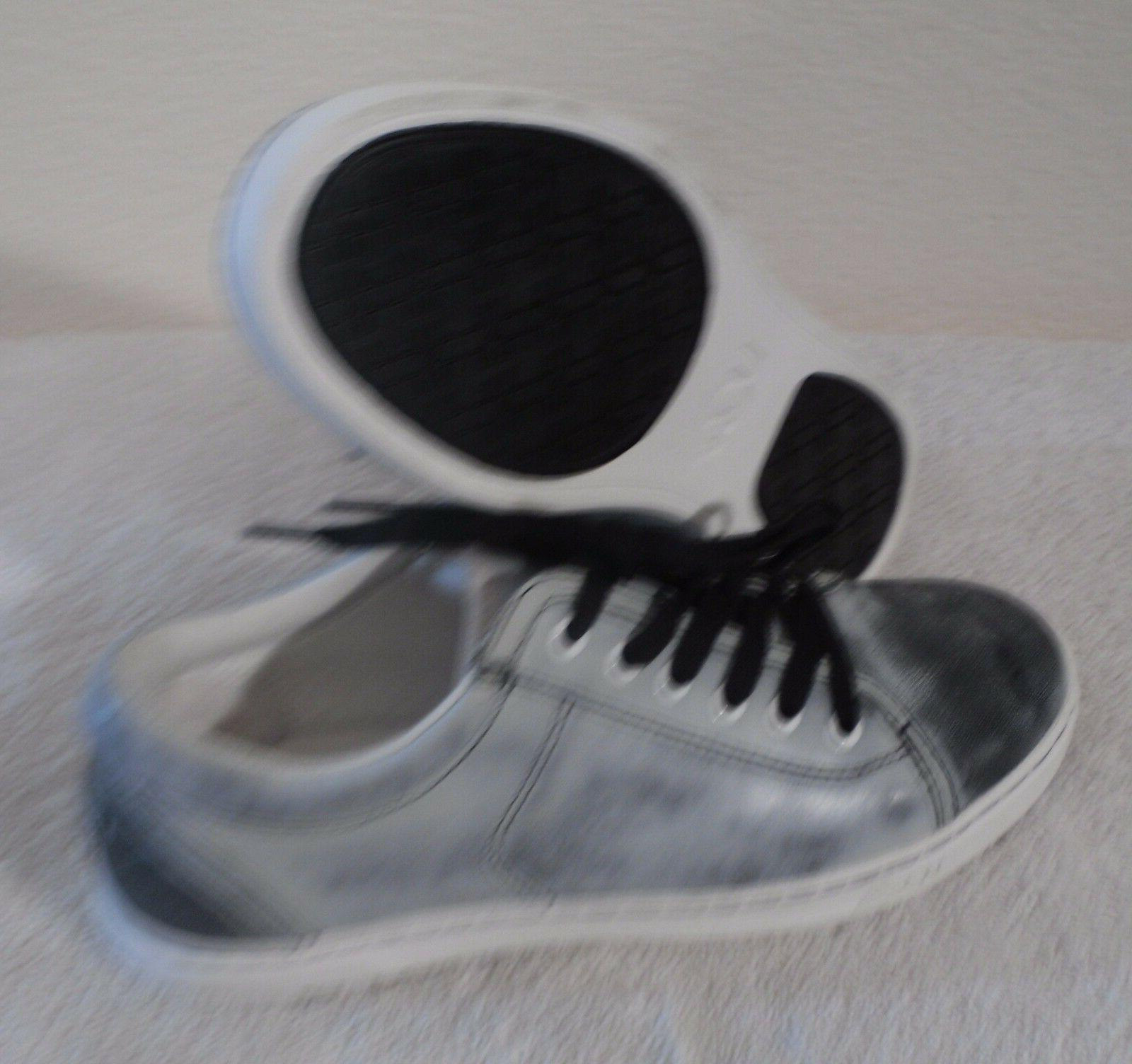 NEW UGG Tomi Water Resistant Leather Sneakers Shoes 7 Black/White