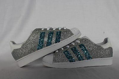 shoes super star with silver glitter