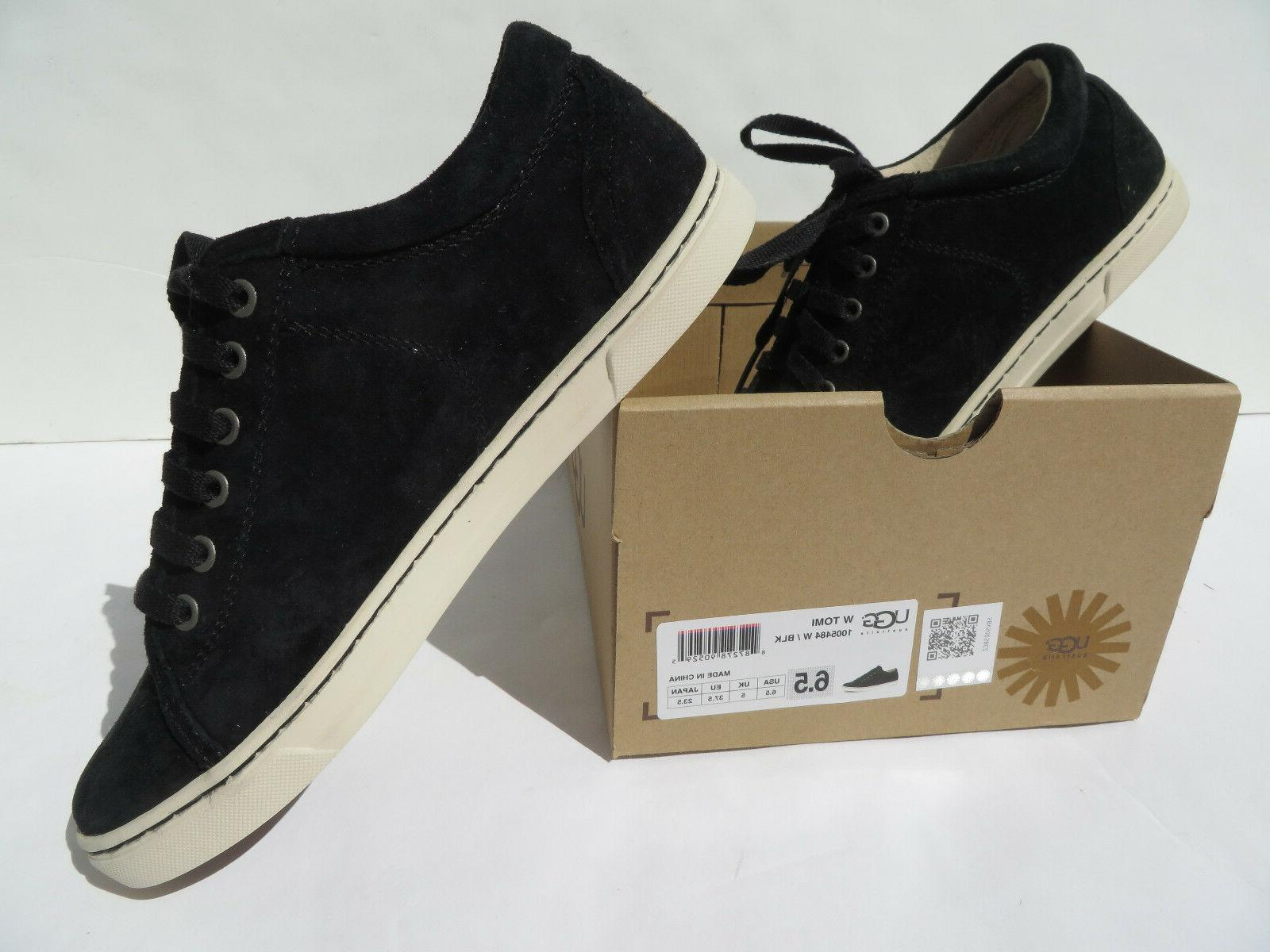 UGG Tomi Suede Sneaker Womens 6.5 10 Black NEW