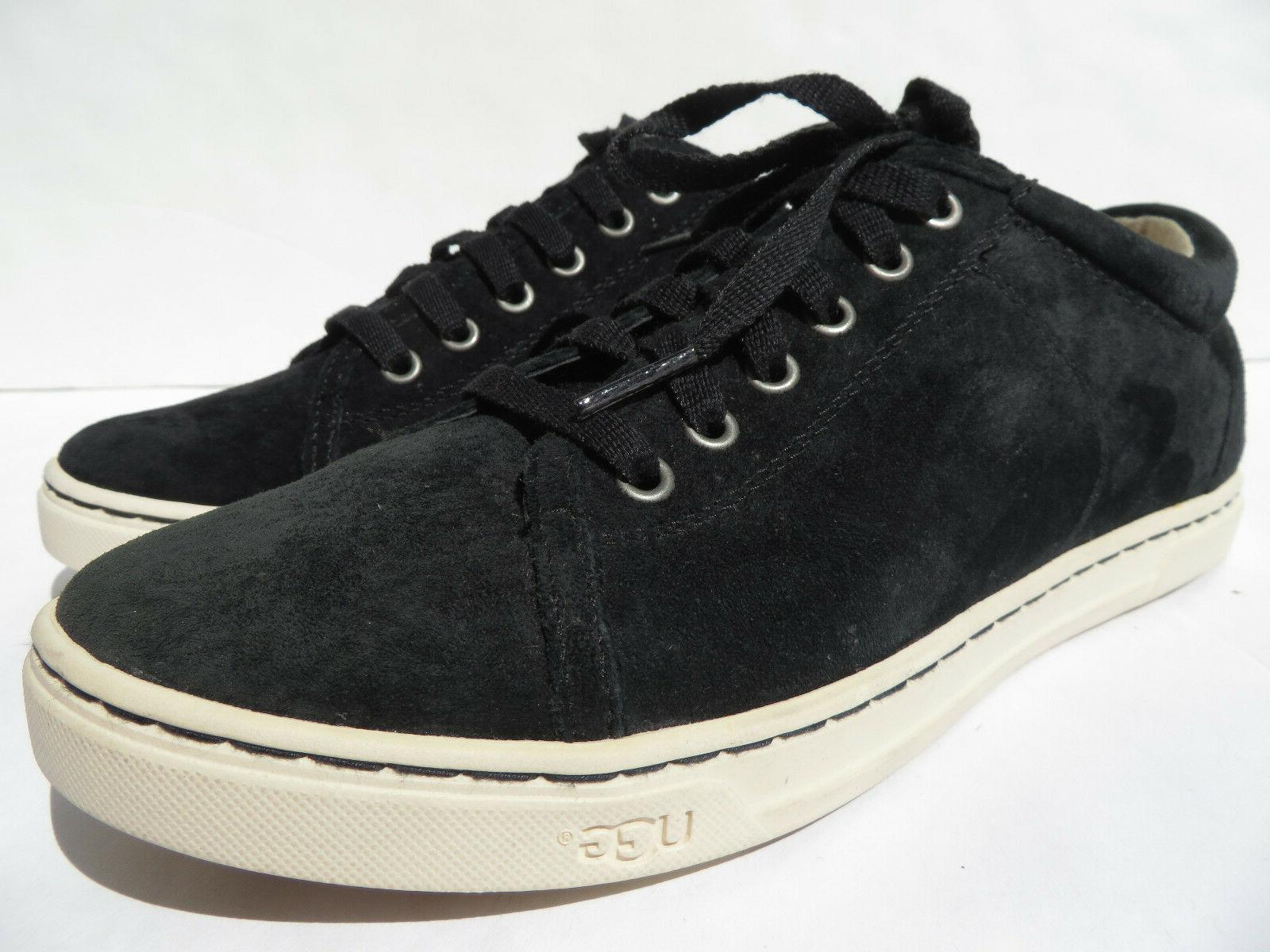 Suede Sneaker 6.5 10 Leather Black NEW