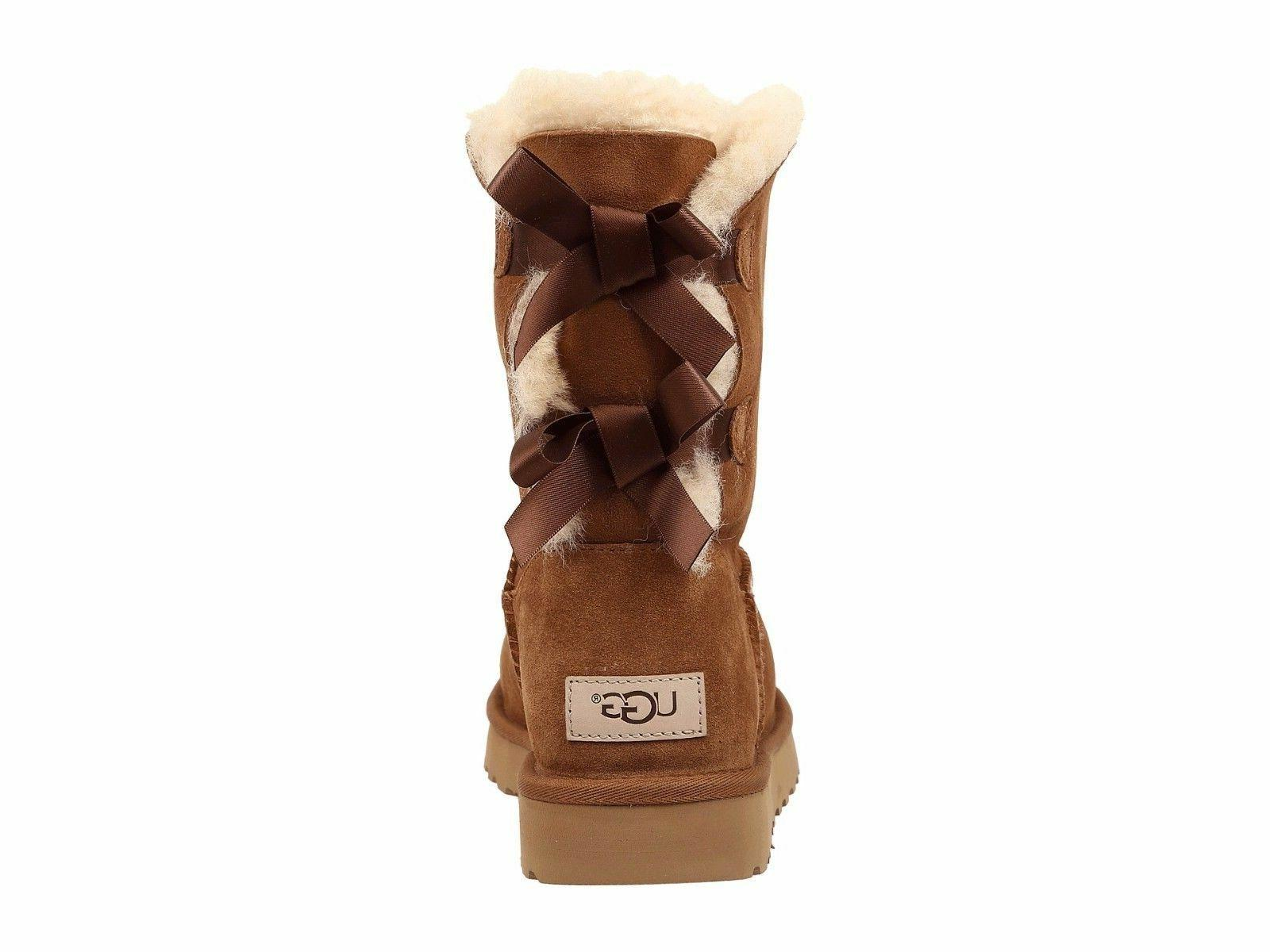 Women's UGG Bow II Boots Chestnut Water - *NIB*