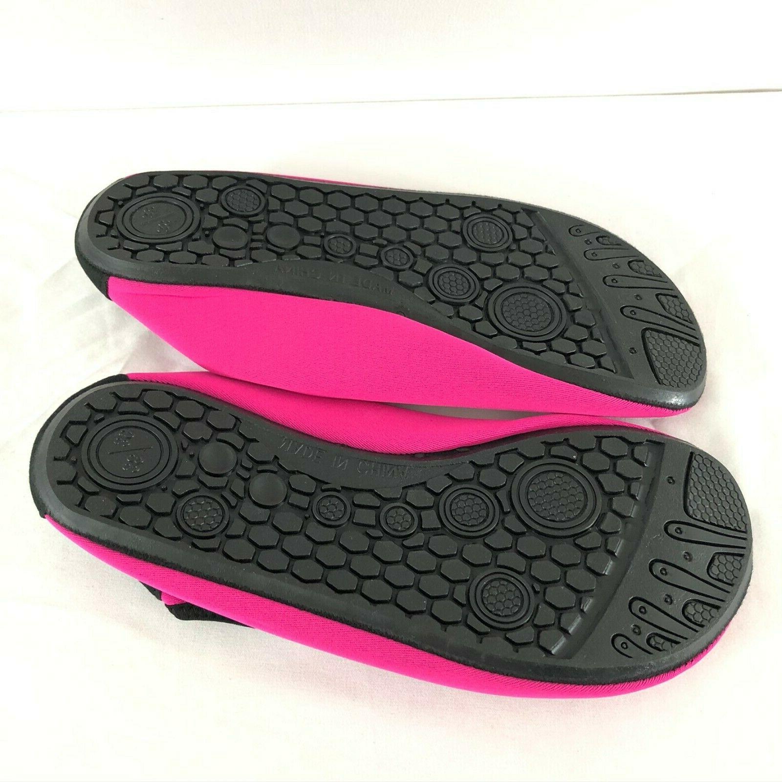 Womens Shoes Slip Hot Pink Size 7/8