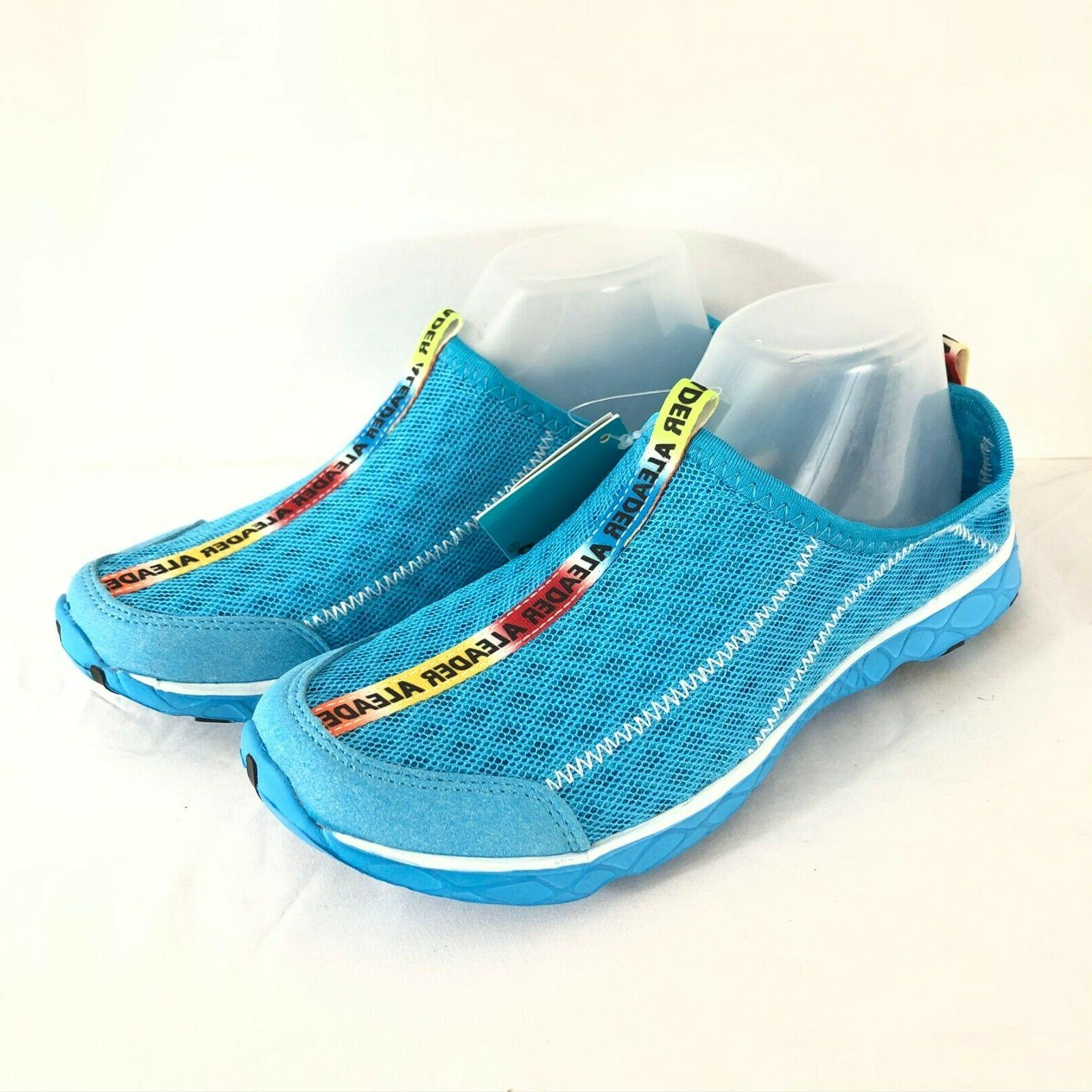 womens water shoes mesh lightweight blue size