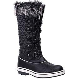 lace waterproof winter snow boots