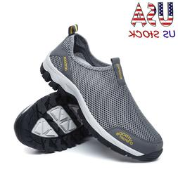 Men's Mesh Aqua Water Shoes Outdoor Quick Dry Slip on Sneake
