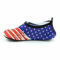 Men  Water Shoes , Beach Shoes US Flag for