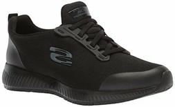 Skechers Mens 77222 Soft toe Slip On Safety Shoes, Black, Si