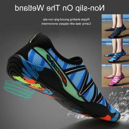 Mens Womens Aqua Beach Water Shoes Quick Dry Barefoot Swim S