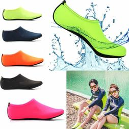 Men Women Skin Water Shoes Aqua Beach Socks Swim Slip Yoga E