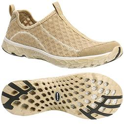 ALEADER Women's Mesh Slip On Water Shoes Gold 8.5 D US
