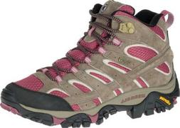 Merrell Moab 2 Mid Waterproof Hiking Boot  in Boulder/Blush