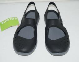 NWT Authentic CROCS SWIFT WATER WAVE Black/Gray Standard Fit