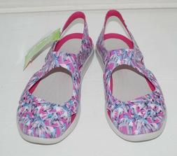NWT Authentic CROCS SWIFT WATER WAVE GRAPHIC CANDY Pink Ball