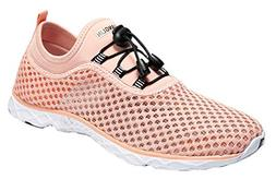 Zhuanglin Women's Quick Drying Aqua Water Shoes,Pinkorange,8