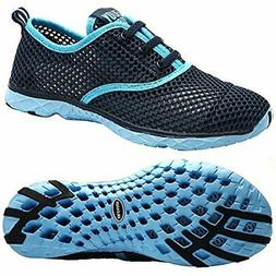 ALEADER Women's Quick Drying Aqua Water Shoes Blue 8 D US/FR