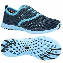 ALEADER Women's Quick Drying Aqua Water Shoes Blue 8.5 D US