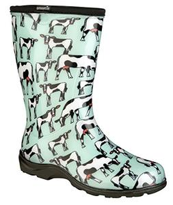 Sloggers Rain and Garden Boots for Women-Cowabella Cow Print