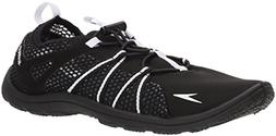 Speedo Women's Seaside Lace Water Shoes, Black/White, 8 C/D