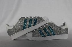 Shoes adidas Super Star With Silver Glitter & Glitter Blue W