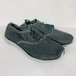 Aleader Shoes Sz 10 Womens Gray Lace Up Knit Water Shoes