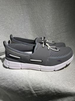 Speedo Size 9 PORT SHOE Grey Boat Shoes Loafers New Womens W