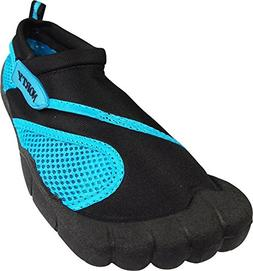 NORTY - Womens Skeletoe Aqua Water Shoe, Black, Turquoise 39
