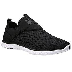 ALEADER Men's Slip-on Athletic Water Shoes Black 10 D US