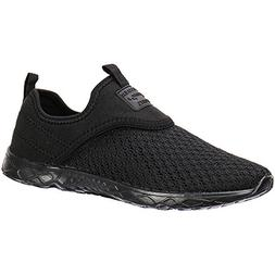 ALEADER Women's Slip-on Athletic Water Shoes Black/Black 10