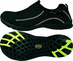 NORTY - Mens Breathable Mesh Slip-On Water Shoes, Black, Lim